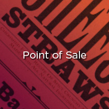 Monocle provides powerful point of sale signage, banners, hangtags, labels, merchandise and environmental graphics, and more.